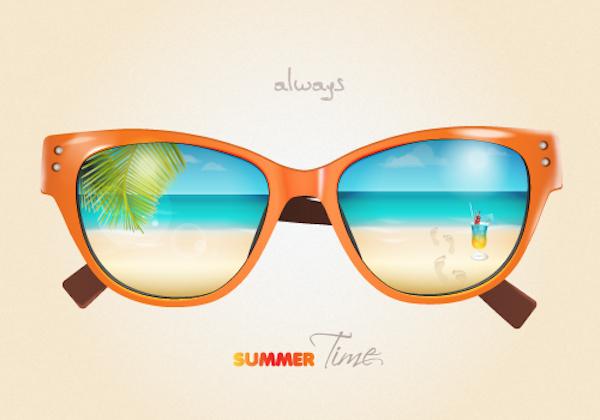 create a summer sunglasses