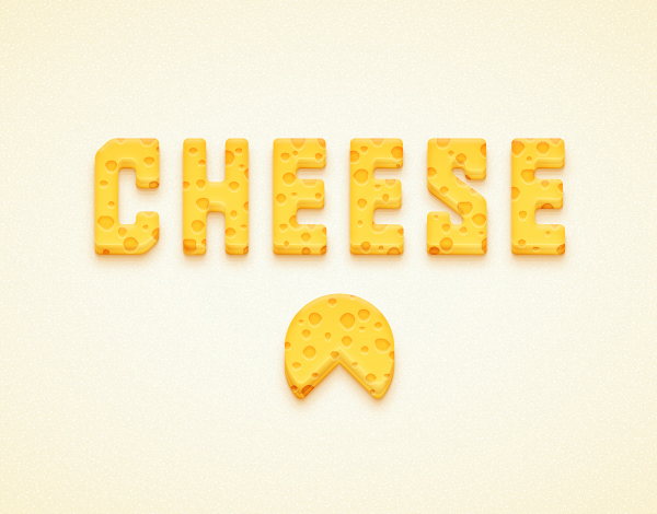 create a detailed cheese text impact in adobe illustrator