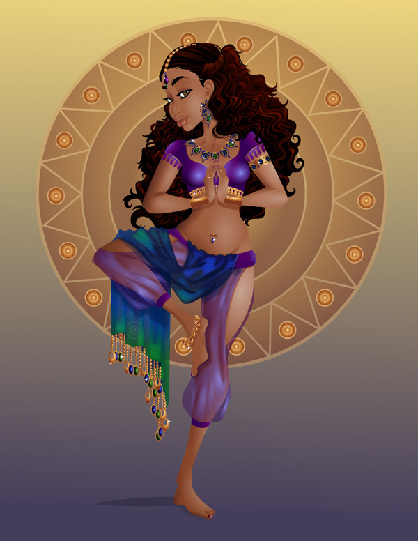 how to create a yoga goddess illustration in adobe illustrator