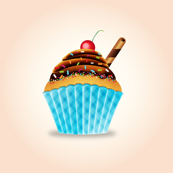 how to create a very tasty cupcake in adobe illustrator