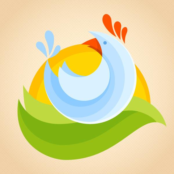 design a flat chicken logotype in adobe illustrator