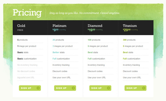 20 Nice Pricing Plan Comparison Table Design - XDesigns