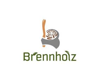 brennholz logo design