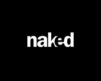 naked logo design