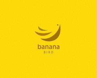 banana bird logo design