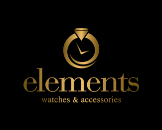 elements watches  accessories logo design