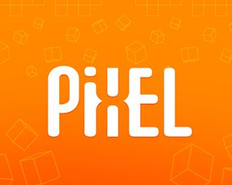 pixel logo design
