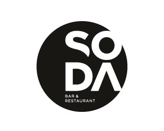 soda bar  restaurant logo design