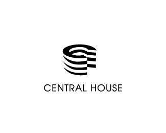 central house logo design