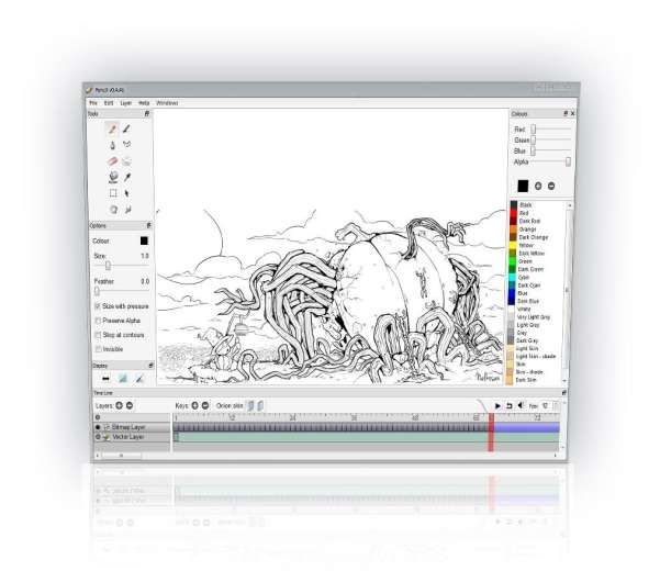16 Open Source Vector Graphics Editor Xdesigns: open source graphics software