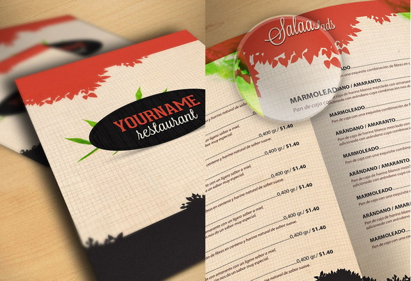 50 free food & restaurant menu templates - xdesigns, Powerpoint templates