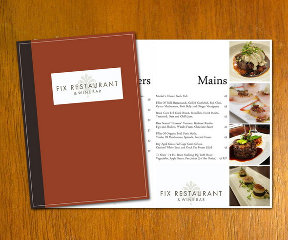 free restaurant menu template example design