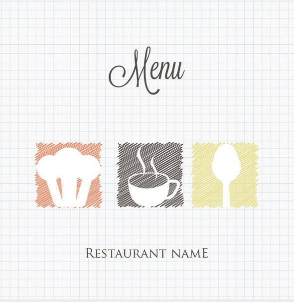 doodle restaurant menu cover vector ai file