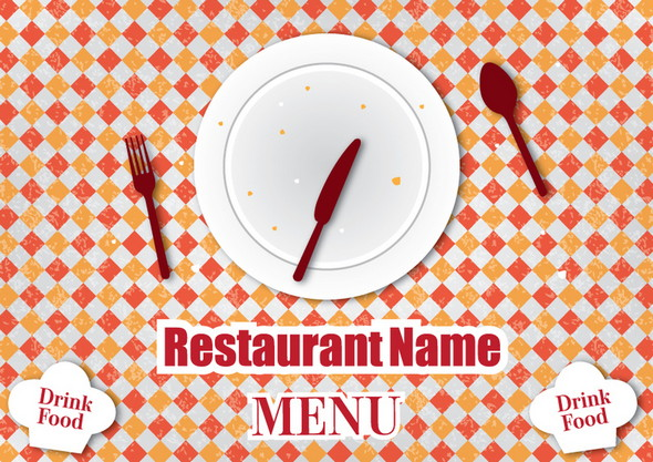 retro restaurant menu design