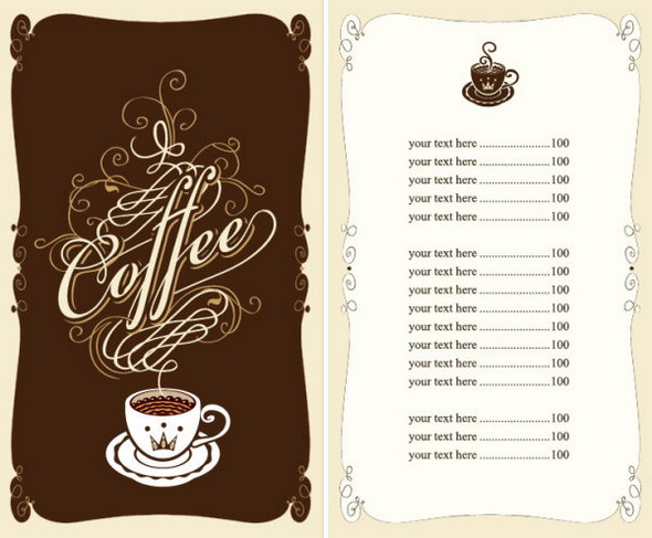 cafe and restaurant menu cover template