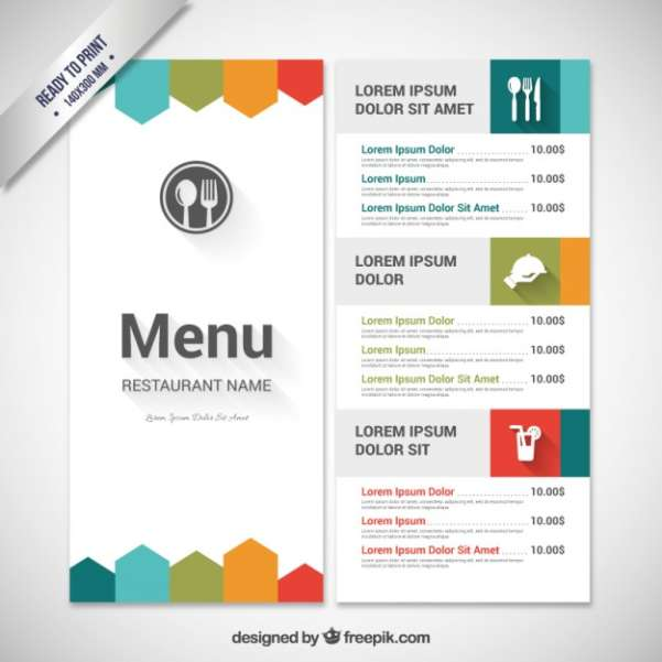 50 Free Food Restaurant Menu Templates XDesigns – Drinks Menu Template Free
