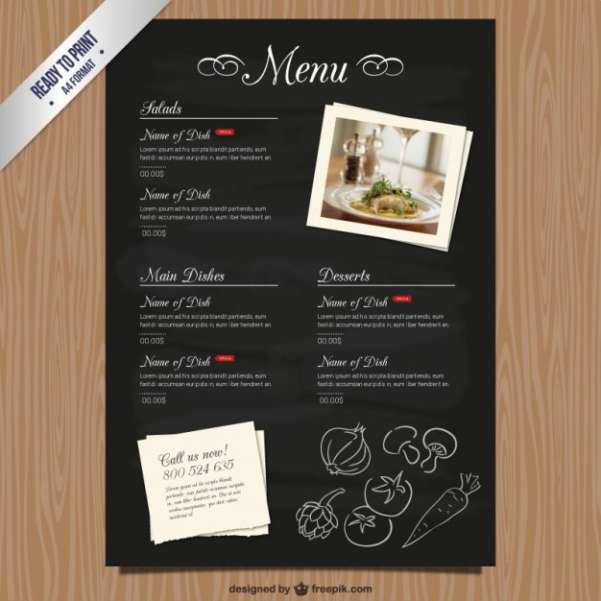 50 Free Food Restaurant Menu Templates XDesigns – How to Make a Restaurant Menu on Microsoft Word