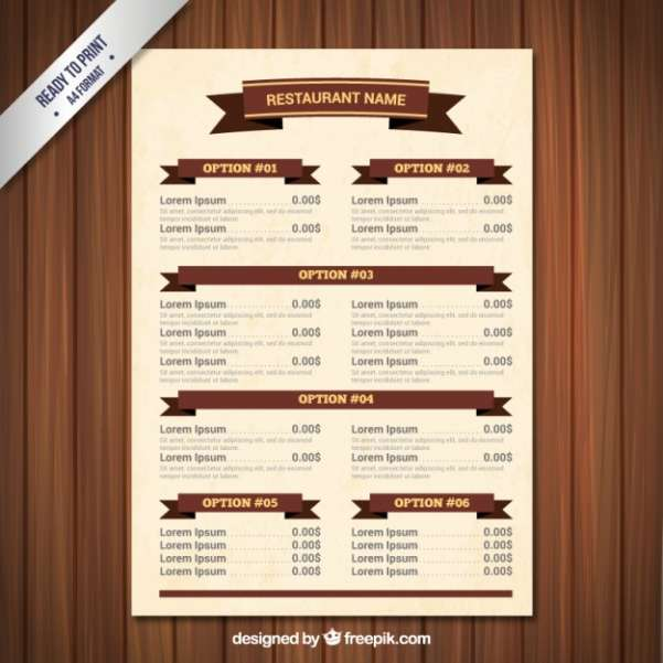 50 Free Food Amp Restaurant Menu Templates Xdesigns