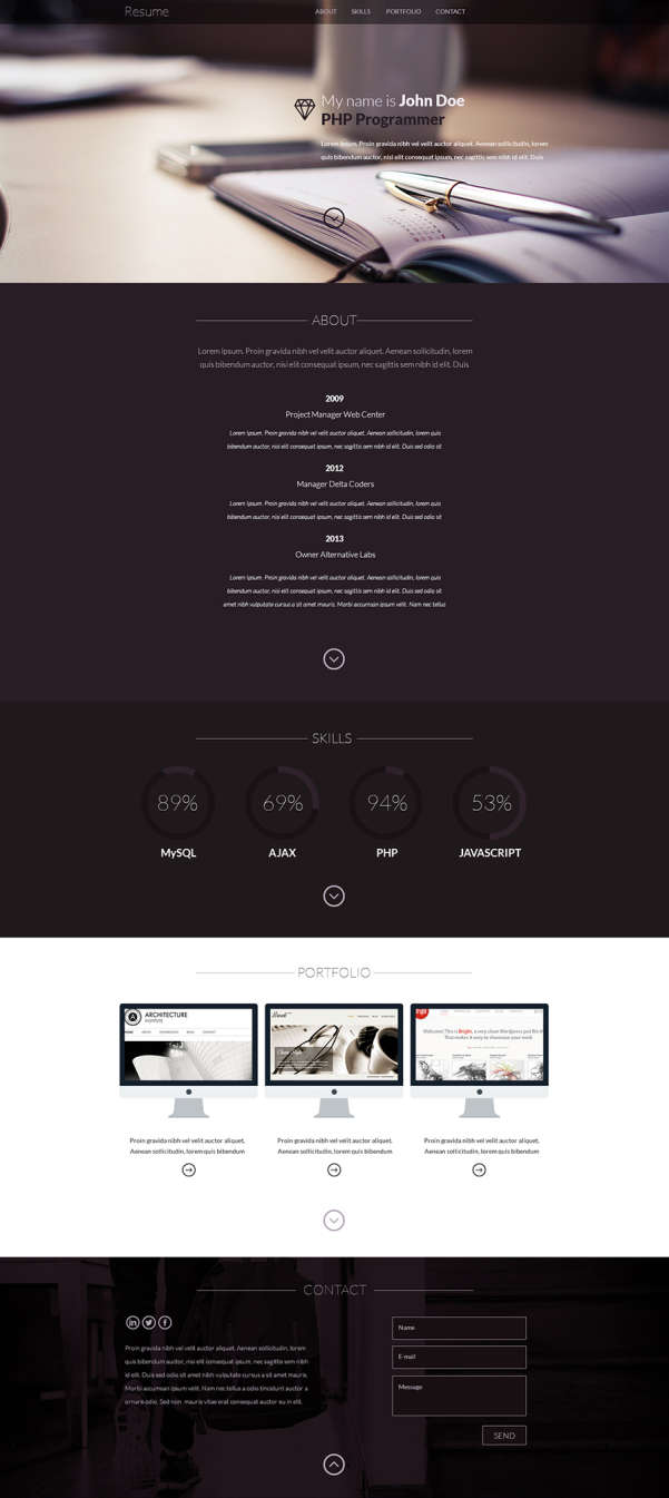 Free Material Design Resume Template Free stuff