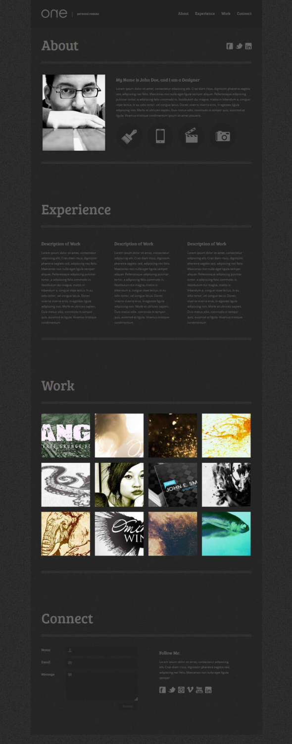 11 free html resume    cv website templates
