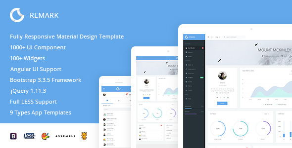 remark responsive bootstrap admin template
