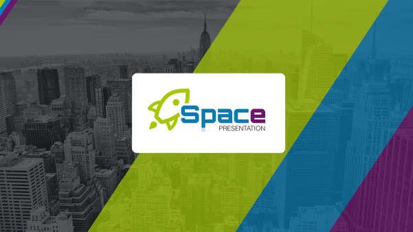 space-startup business keynote presentation template screenshot