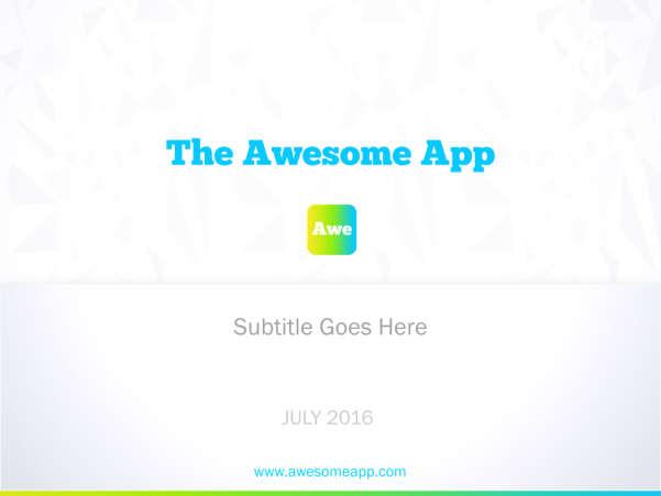 awesome app startup keynote template screenshot
