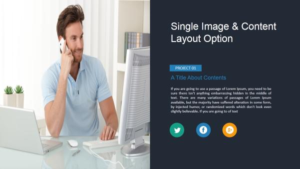 effective business keynote template screenshot