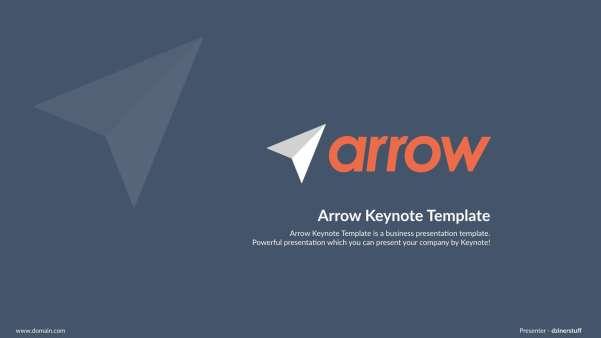 arrow keynote presentation template screenshot
