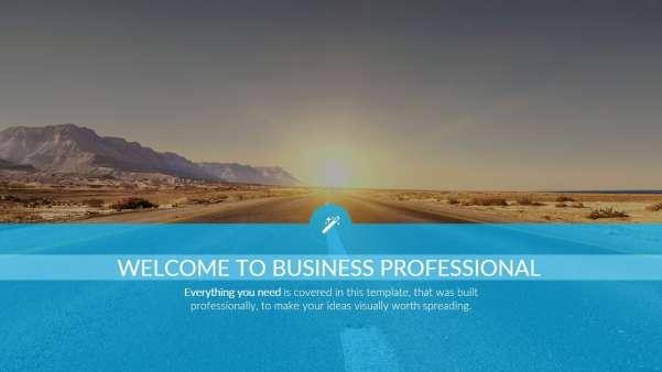 business professional keynote template screenshot