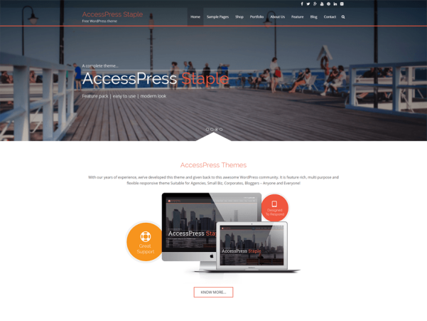 accesspress staple wordpress theme