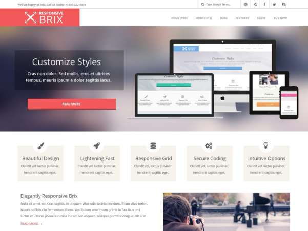 responsive brix wordpress theme