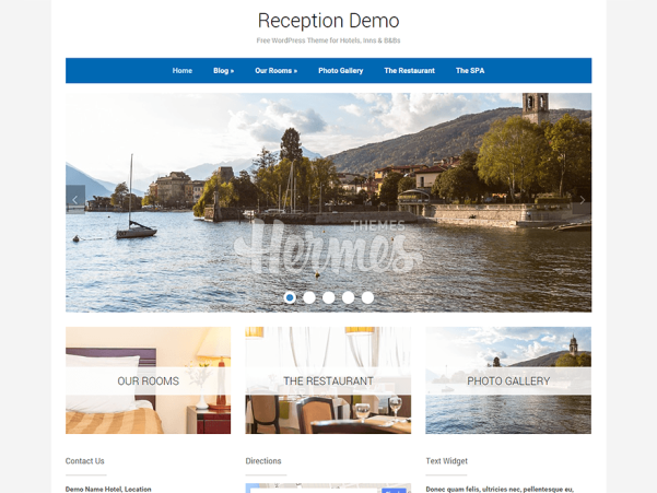 reception wordpress theme
