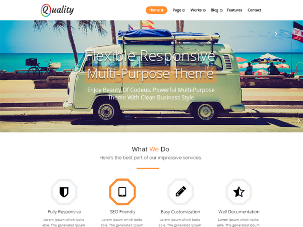 quality orange wordpress theme