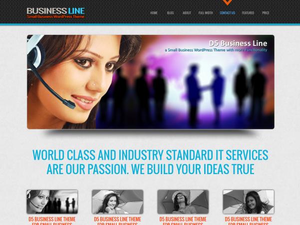 d5 business line wordpress theme