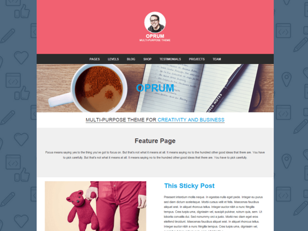 oprum wordpress theme