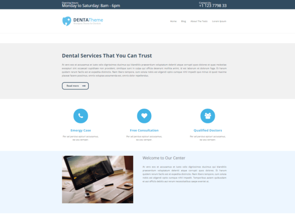 denta lite wordpress theme