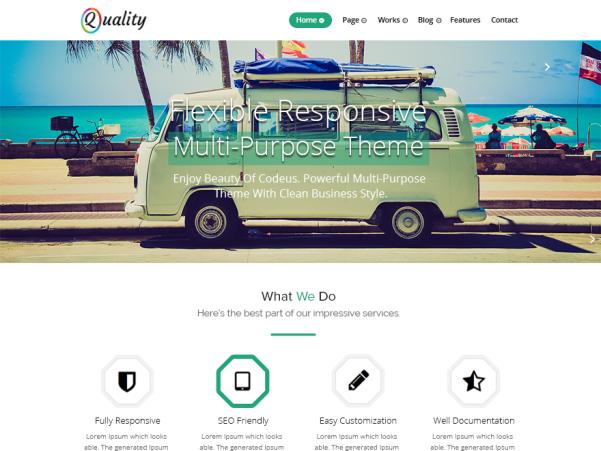 quality green wordpress theme