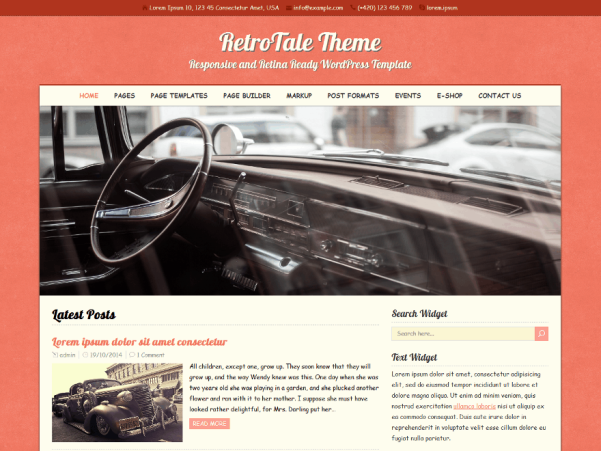 retrotale wordpress theme