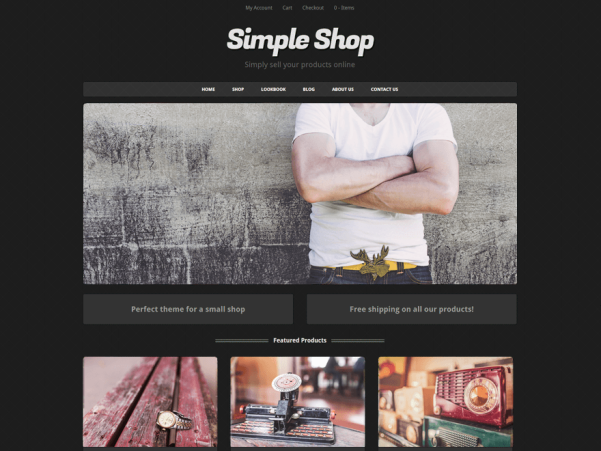 simple shop wordpress theme