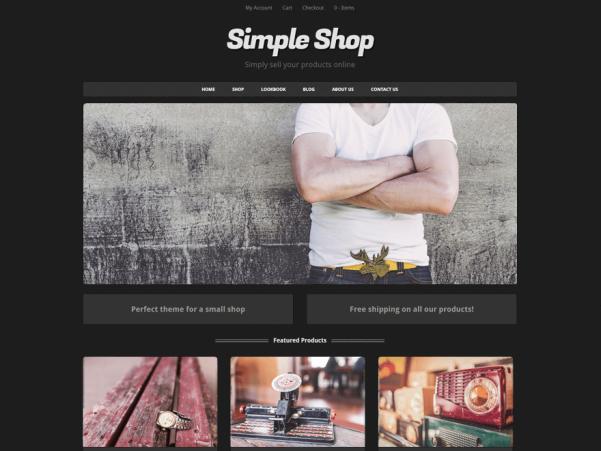 simple shop wordpress theme