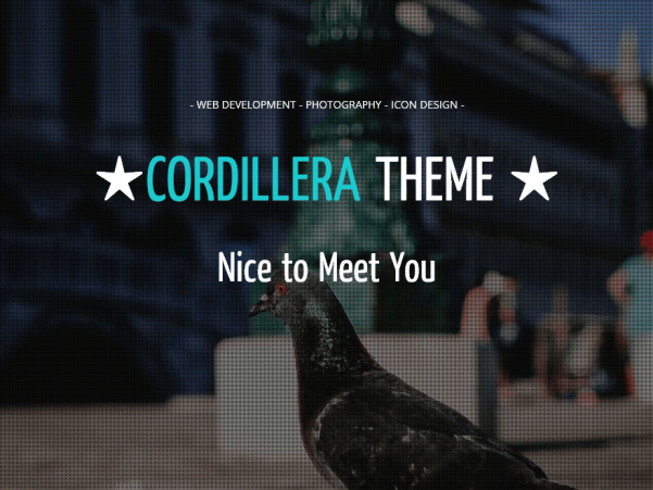 cordillera wordpress theme