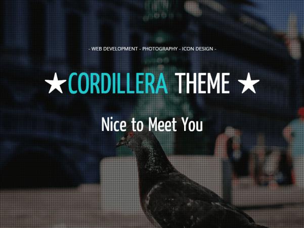 cordillera wordpress theme