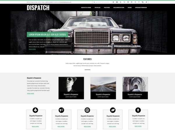 dispatch wordpress theme