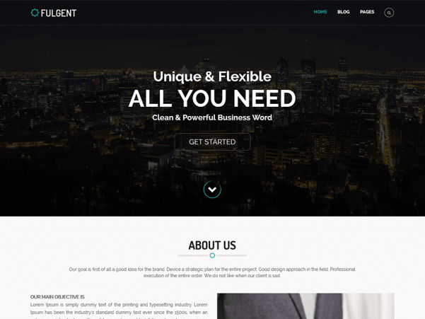 fulgent wordpress theme