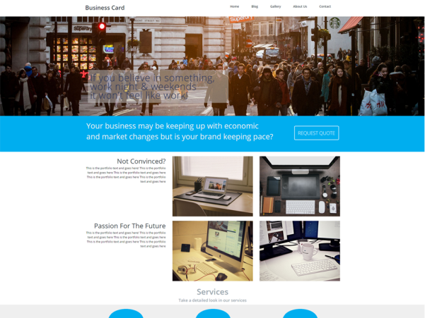 business card wordpress theme