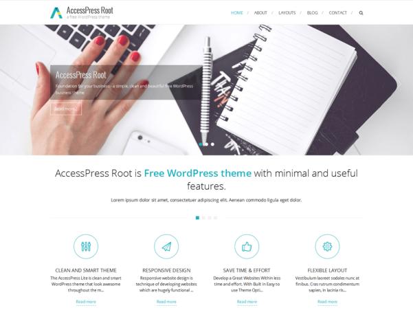 accesspress root wordpress theme