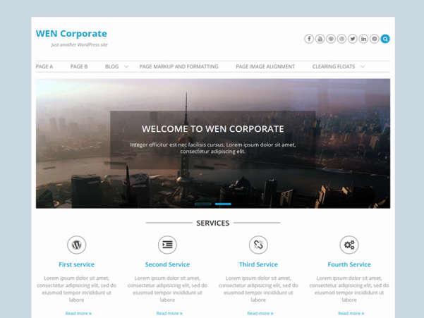 wen corporate wordpress theme
