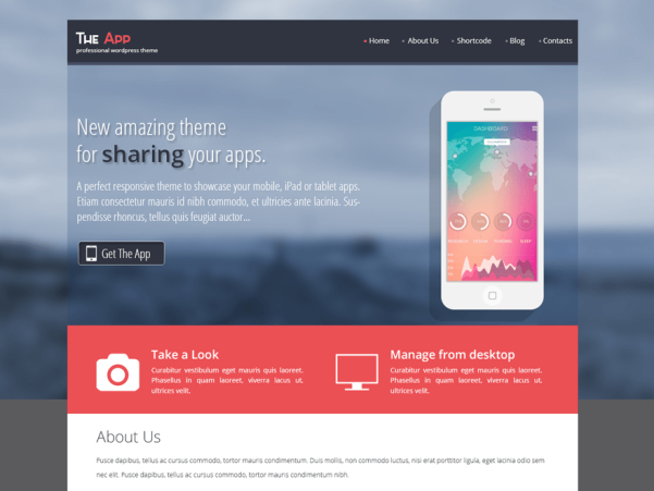 skt the app wordpress theme