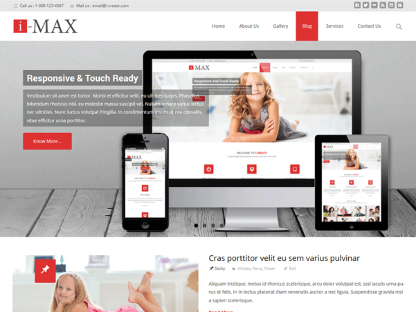 i-max wordpress theme